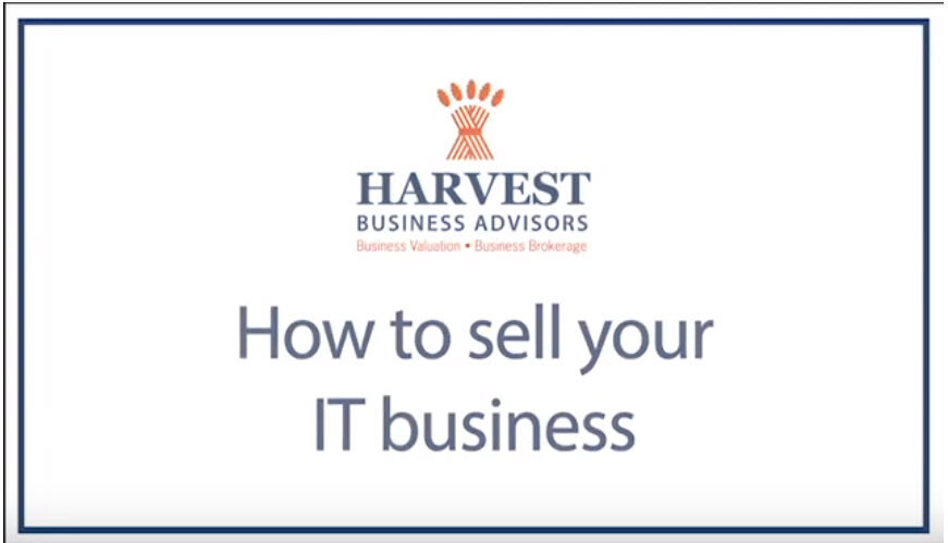 Selling Your IT or Software Business (video)