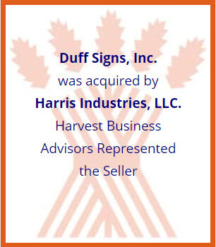 business sold with Harvest Business Advisors
